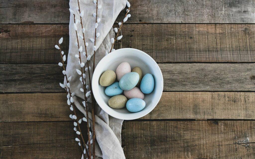 eggs, easter, bowl