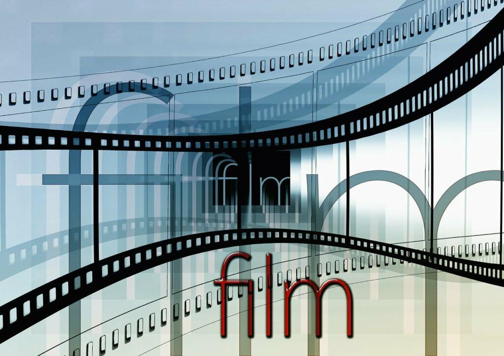 cinema strip, movie, video