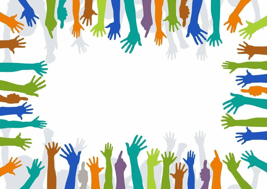 volunteer, hands, voluntarily